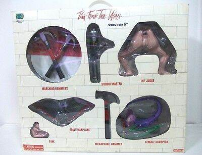 PINK FLOYD The Wall Series 1 Action Figure Box Set 2003 Factory Sealed
