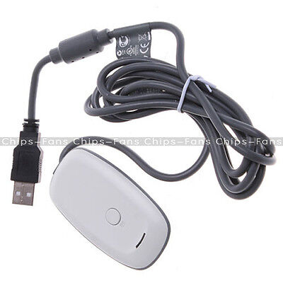 White PC Wireless USB 2.0 Gaming Receiver-Controller Adapter for Xbox 360 OVP