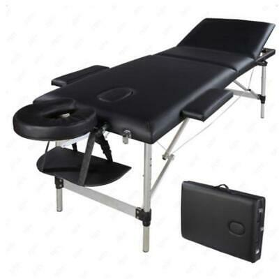 3 Fold Aluminum Portable Massage Table Facial SPA Bed  w/Free Carry Case