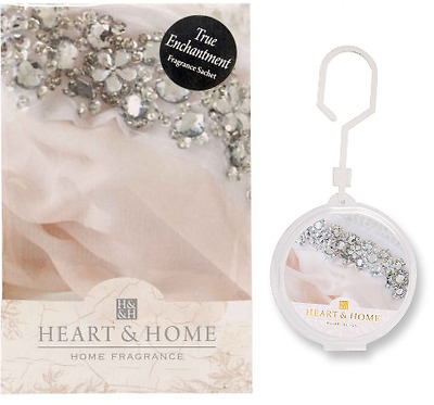 Set of 2 Heart and Home, True Enchantment Home and Car Sachet Air Freshener