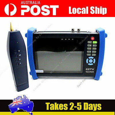 "7"" Screen CCTV Security Cam Tester Monitor Analog HDMI VGA Cable Scan HVT-3600"