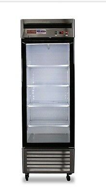 New 1 Door Glass FREEZER  Display Single Reach In Show Case Food Merchandiser