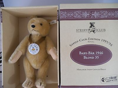 Steiff Teddy Club Edition 1995 / 1996 Baby Bär 1946 blond in OVP (604)