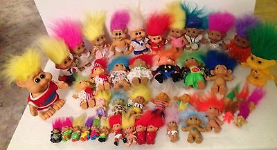 BULK  LOT OF 42 TROLL DOLLS from The 1990s