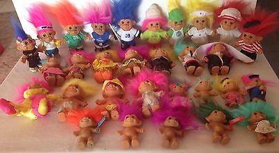 BULK  LOT OF 30 RUSS TROLL DOLLS from The 1990s
