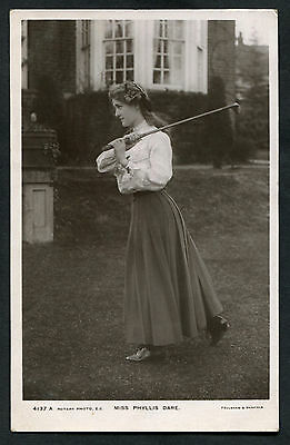 C1910: Miss Phyllis Dare with Golf Club: Stage Actress