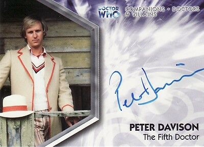 Doctor Who Trilogy Peter Davison as the 5th Doctor A1 Auto Card