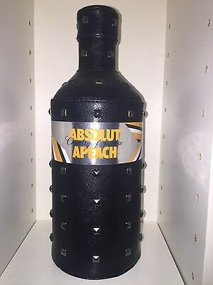 Absolut Vodka APEACH Rock Edition Skin 700ml Uncut Banderole Empty No Alcohol