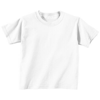 3 PACK - Boys Girls Short Sleeve 100% Cotton White T-shirt Top - 1/2  3/4 Years