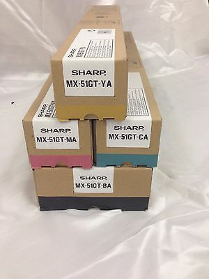 SHARP MX-51GT Toner Cartridge Multipack BA/MA/CA/YA – All colours.