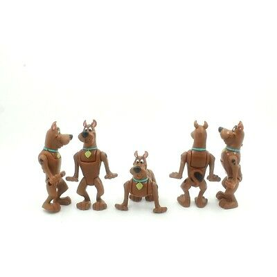 Lot Of 5 Hanna-Barbera SCARED SCOOBY DOO Action Figure CE42