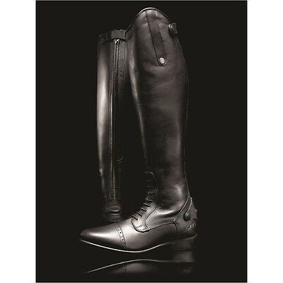 MARK TODD LONG LEATHER COMPETITION FIELD BOOTS BLACK horse rider wear spur rest