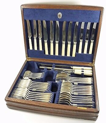 MAPPIN & WEBB Cutlery - RATTAIL Pattern - 48 Piece Canteen for 6