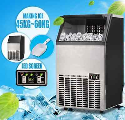 45~60KG/Day Commercial Ice Maker Portable Cube Machine Auto Snow Home Business