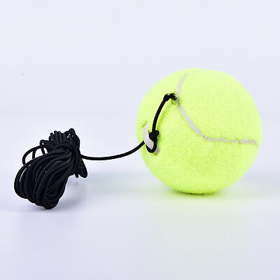 Drill Exercise Resiliency Tennis Balls Trainer With String Replacement Rubber FG