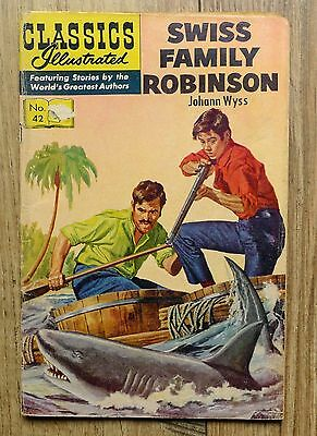 Classics Illustrated Number 42. Swiss Family Robinson.