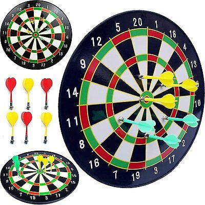 """Kids Safty16""""Magnetic Dartboard Board Game With 6 Darts In Out Door Present New"""