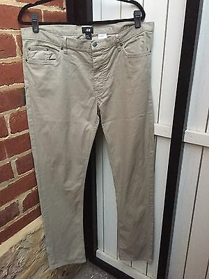 H&M Men's 34 Beige Slim Fit Chino Pants Trousers
