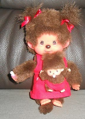 Sekiguchi Monchhichi  Monchichi Mutter Mit Kind