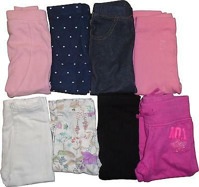 USED Baby Girls 8 Pair Bundle Mix of Colours Leggings Size 18-24 Months (E.M)
