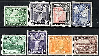 British Guiana 1938-52 George VI Pictorials Values to 60c SG.308/315 Mint Hinged