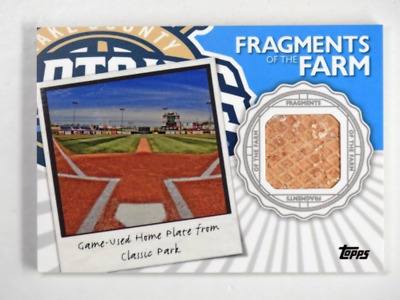 2016 Topps Pro Debut Fragments of the Farm Game-Used Home Plate Classic Park