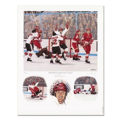PAUL HENDERSON Autographed Signed TEAM CANADA 1972 Lithograph Unframed