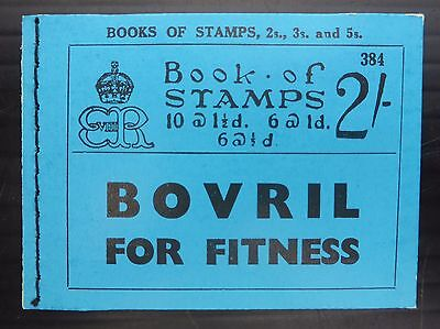 GB 1936 Ed.VIII - 2/- Complete Booklet Edition 384 NB840