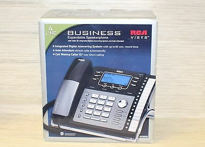 RCA 25425RE1-C 4-Line Corded Expandable Speakerphone W/ Digital Answering System