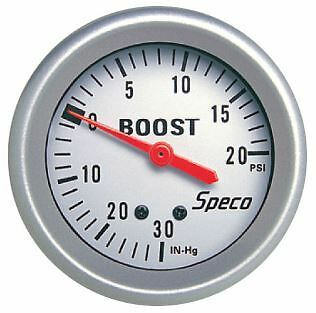 """SPECO METER PRO SERIES 2 5/8"""" to 20 PSI BOOST/VAC GAUGE - FITTING KIT INCLUDED"""
