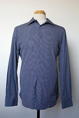 Men's COUNTRY ROAD 100% Two-Ply Cotton Tailored Dress Shirt Size Large