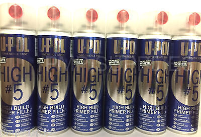 UPOL High 5 High Build Primer Aerosol WHITE BOX OF 6