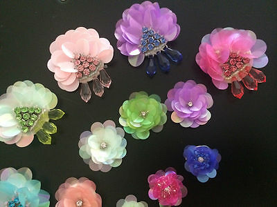 Patches Flower Applique sequins clothing accessory embroidery for dress sweater
