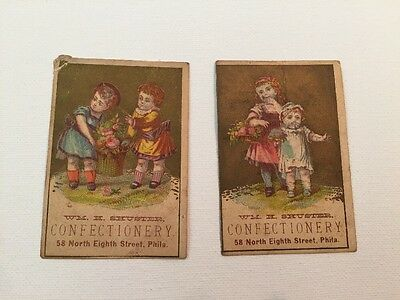 Vintage Shuster Confectionery Ad Cards--Lot Of 2