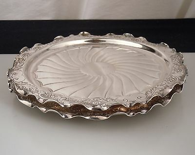Vintage H.L. & Co. Silver Plate Card Trays/Wine Coasters