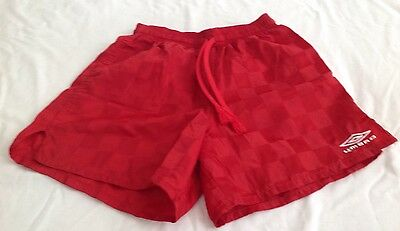 Boys Umbro Shorts~ Size Small~ Red~100% Nylon