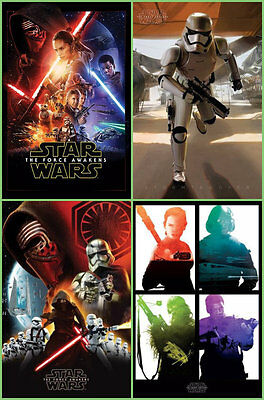Star Wars VII The Force Awakens Official Movie Poster Large 61x91 CM, Choose NEW
