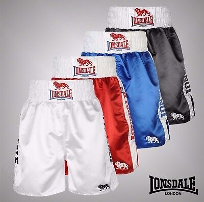 Mens Lonsdale Boxing Training Bottoms Pro Large Logo Sports Shorts Size S-XXL