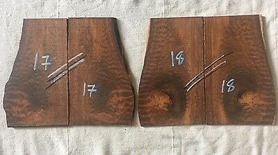 Snakewood bookmatched razor scale / inlay sets