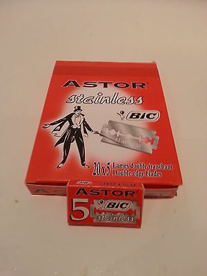 ASTOR STAINLESS BIC 5/10/25/50/100 Double Edge Safety Razor Blades UK stock