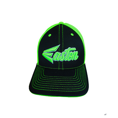 Easton Hat by Pacific 404M Black/Lime/Script Youth Hat (6 3/8 - 6 7/8), new