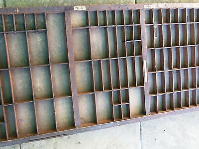 Letterpress Printing Vintage LARGER OLD WOODEN TYPECASE Compositor's Case Adana