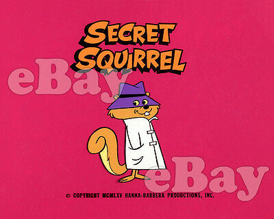 Rare! SECRET SQUIRREL Cartoon Color TV Photo HANNA BARBERA Studios