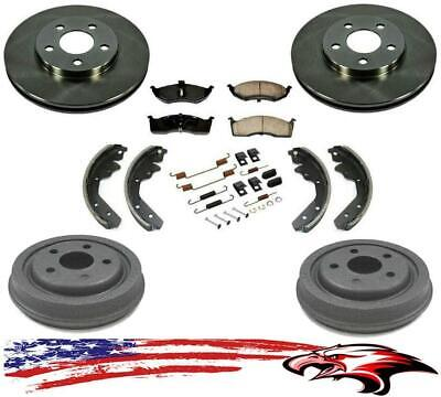 Front Ceramic Brake Pad Set /& Rotor Kit for 2012-2014 Toyota Yaris W REAR DRUM