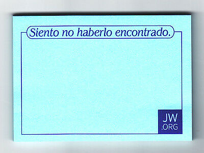 JW.org Spanish Post It Notes for return visits Jehovah's Witnesses in Spanish
