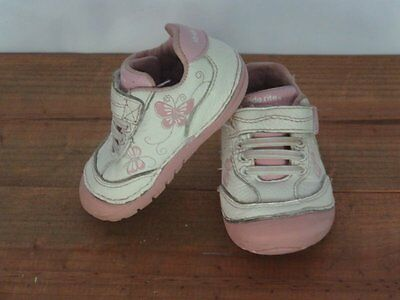 Stride Rite Infant Girls Pink White Leather Bambi Shoes 3M