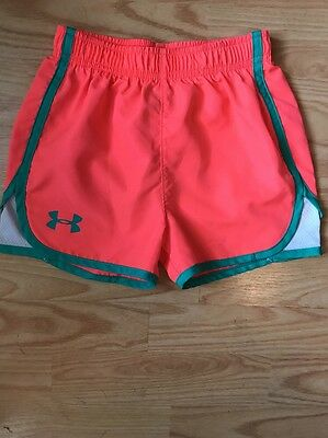 Girls Youth Under Armour athletic/running shorts size Small! EUC!!