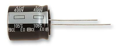 Electrolytic Capacitor, 47 µF, 400 V, ED Series, ± 20%, Radial Leaded, 18 mm