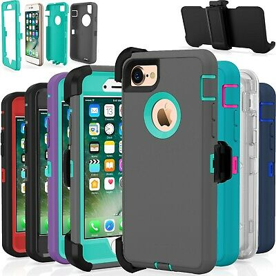 Protective Shockproof Belt Clip Holster Case Cover For Apple iPhone 7 / 7 Plus