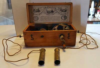 Improved Magneto Electric Shock  Machine -Quack Doctors Tool- Ornate !!!!